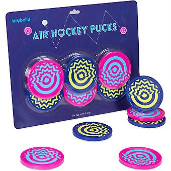 Six-Pack Vivid Air Hockey Pucks, 3.25''