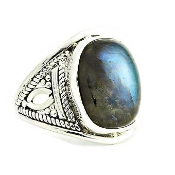 Ring 925 zilver met labradoriet 55 mm/x 17,5 mm (KLE-RI-068-05-(55))