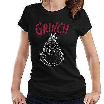 The Grinch Face Silhouette Women's T-Shirt