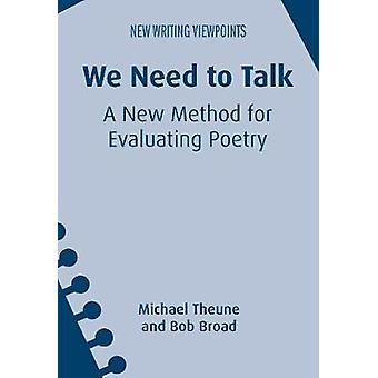 We Need to Talk by Michael Theune