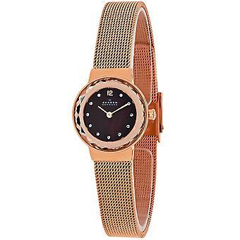 Skagen Frauen's braune Perlmutt Zifferblatt Uhr - 456SRR1