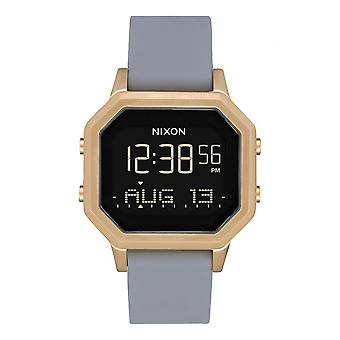 Nixon horloge A1211-3163-00-SIRENe SS armband silicone grijs Bo tier staal dor Carr mannen/vrouwen