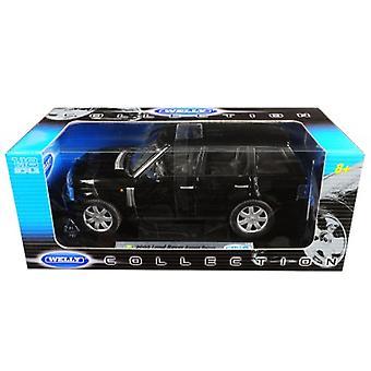 2003 Land Rover Range Rover Nero 1/18 Diecast Model Car di Welly