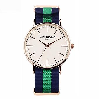 NATO band men's lady watch Winchester of Sweden green