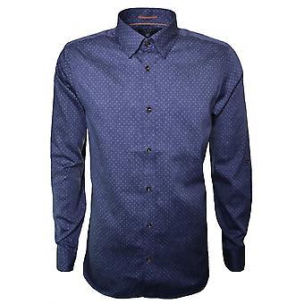 Ted bleu Jakee Long Sleeve Shirt Baker masculine