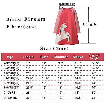 Fiream Girls Crewneck Long Sleeve Dress Christmas Unicorn Gifts for Girls(160...