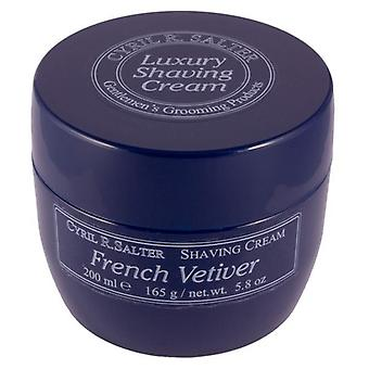 Cyril R Salter Luxury Shaving Cream 165g (200ml) - French Vetivier