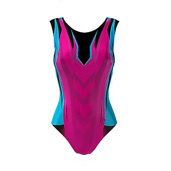 WILD HORSE Girls Gymnastic Leotards Sleeveless + Free Velour Hipster Shorts