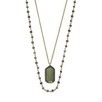 35 אינץ ' סטרנד של Iolite זהב הבזיק תיל שרשרת 30 אינץ ' 14k זהב שרשרת הבזיק לברדורייט מתנות תכשיטים לבית W