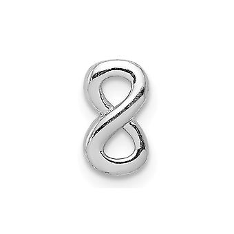 925 Sterling Silver Rhodium Plated Infinity Slide Charm Pendant Necklace Jewelry Gifts for Women