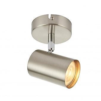 THLC Arezzo Single Ceiling Or Wall Spotlight In Satin And Polished Chrome Finish 73687