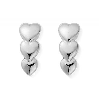 ChloBo Silver Life Lover Stud Earrings