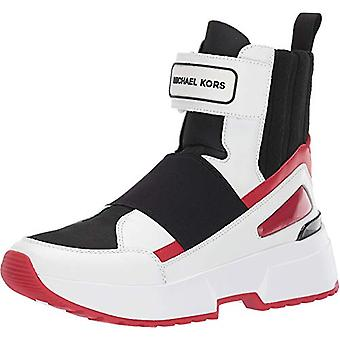 MICHAEL Michael Kors Cosmo High Top Optic White/Scarlet 7