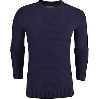 Tapfere Seele Mens Brave Soul strukturiertem Strick Pullover Pullover Rundhals Baumwolle Pullover