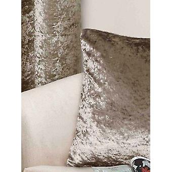 Belle Maison Cushion Cover, Crushed Velvet Range, Mink