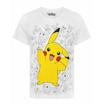 Pokemon Pikachu Wave Boy's Character T-Shirt