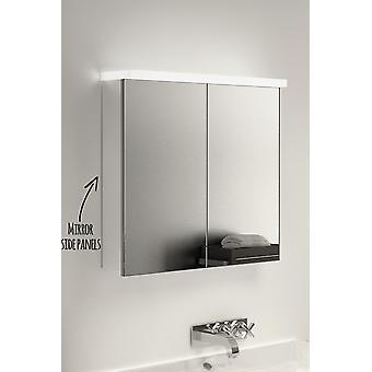 RGB LED Light Plate Cabinet with Sensor, Shaver & Demister k494rgb