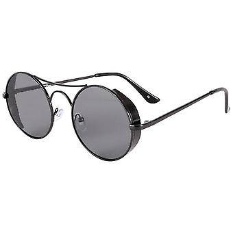Jeepers Peepers Flat Lens Round Sunglasses - Black