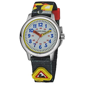 JACQUES FAREL Kids Wristwatch Analog Quartz Boys Titanium Textile Ribbon KTI 06 WOR
