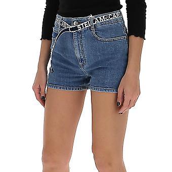 Stella Mccartney 600452snh954705 Women's Blue Cotton Shorts