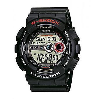 G-Shock Watches Gd-100-1aer Men's Black Rubber Alarm Chronograph Watch