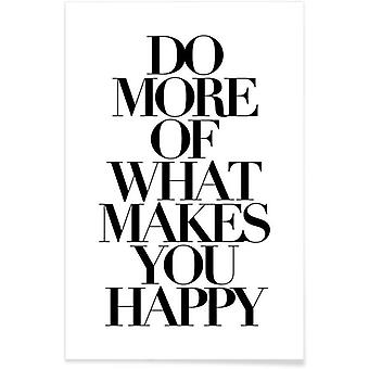 JUNIQE Print - do more - Quotes & Slogans Poster in Black