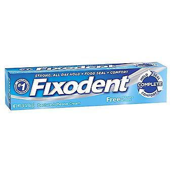 Fixodent complete free denture adhesive cream, 2.4 oz