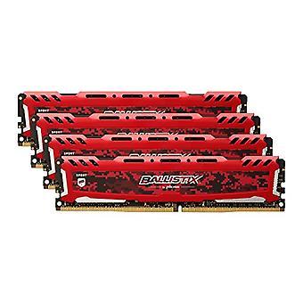 الأهمية باليستيكس الرياضة LT BLS4K4G4D240FSE 2400 ميغاهرتز، DDR4، DRAM، الثابتة الكمبيوتر طقم الألعاب، 16 غيغابايت، 4 GB × 4، CL16، الأحمر