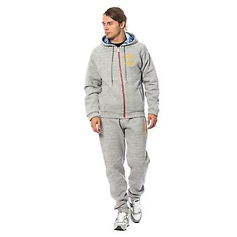 Gray cotton hooded sweatsuit a27