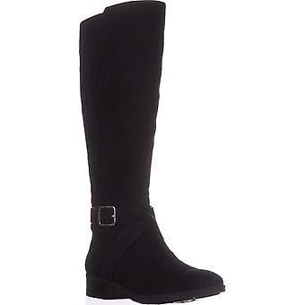 DKNY Naisten Mattie Nahka Suljettu Toe Polvi High Riding Boots