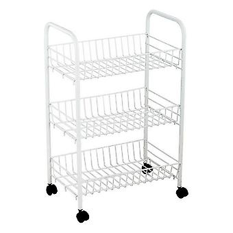 Vegetable trolley Confortime White/40 x 26 x 62 cm