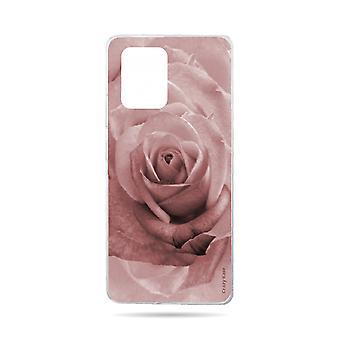 Rumpf für Samsung Galaxy S10 Lite weiche Blume Rose In Pastell Rose
