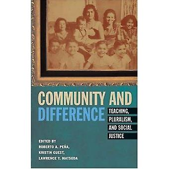 Community and Difference - Teaching - Pluralism - and Social Justice b