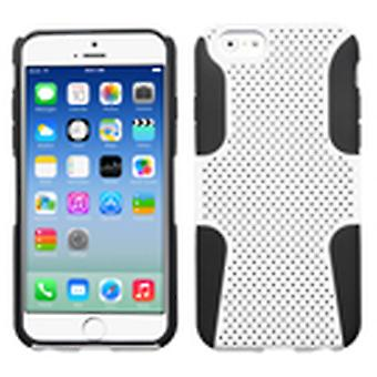 Asmyna Astronoot telefon protector sak for Apple iPhone 6/6S - hvit/svart
