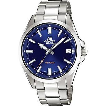 ساعة معصم كوارتز EFV-100D-2AVUEF (L x W x H) 48 × 42 × 10.9 ملم مواد الضميمة الفضية = مادة الفولاذ المقاوم للصدأ (حزام الساعة)=كاسيو الفولاذ المقاوم للصدأ