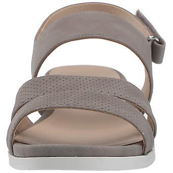LifeStride Womens Ashley 2 Leather Peep Toe Casual Slingback Sandals