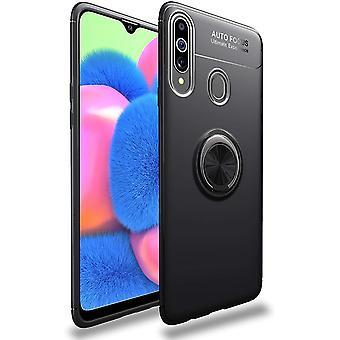 Mobiles Gehäuse mit Ringhalter Samsung Galaxy A20s - schwarz