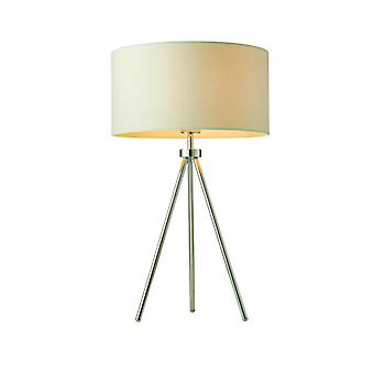 Tri Lamp, Chrome, With Lampshade