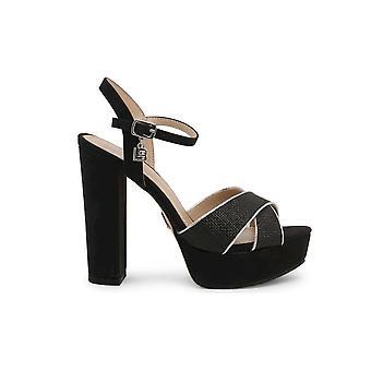 Laura Biagiotti - Zapatos - Sandalias - 6118-NABUK-BLACK - Damas - Schwartz - 41