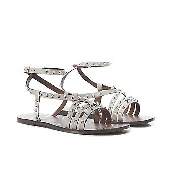Inuovo Leather Studded Gladiator Sandals