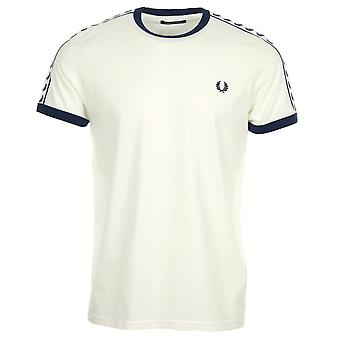 Fred Perry Taped Ringer T-shirt weißes T-shirt