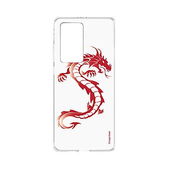 Hull For Huawei P40 Pro Soft Red Dragon