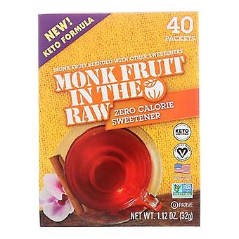 In The Raw Monk Fruit Zero Calorie Sweetener Packets