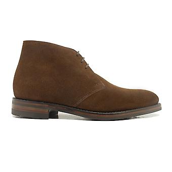Loake Pimlico Brown Suede Leather Mens Lace Up Boots