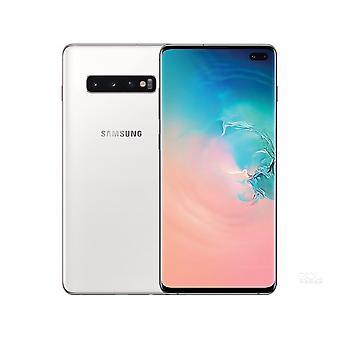 サムスンS10 + 8GB / 128GBシングルカード白いスマートフォンオリジナル