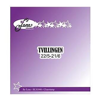 Por Lene Clearstamp Tvillingen (Textos Daneses) (BLS1046)