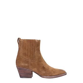 Ash Faith02 Women's Bege Suede Ankle Boots