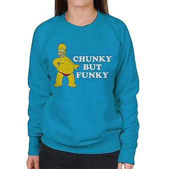 The Simpsons Chunky But Funky Homer Women's Sweatshirt