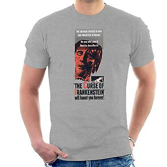 Hammer Horror Films Frankenstein Will Haunt You Forever Men's T-Shirt