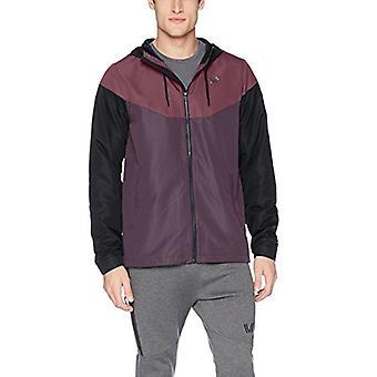 Peak Velocity Men's Zephyr Windbreaker Loose-Fit Jacket, black/shadow purple/...